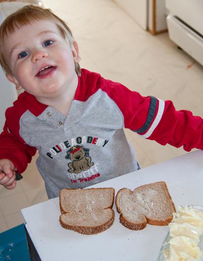 Arden poses between slices